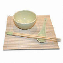 4pcs Tableware Set, Includes One Pair Chopsticks, Suitable for Four Persons